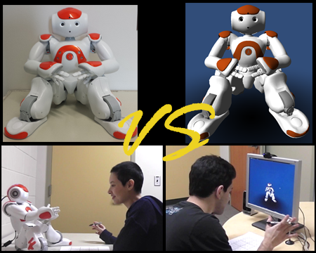 A Simulated Robot versus a Real Robot: People's Empathic Response (2015)