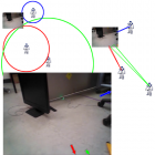 In-feed embedded techniques for visualizing robot team member locations (2017)